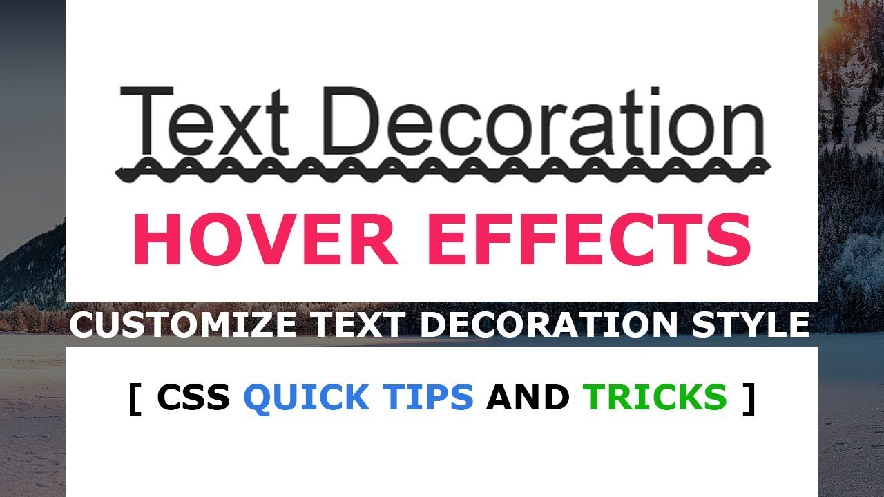 How to make Custom Text Decoration Style - CSS Hover ...
