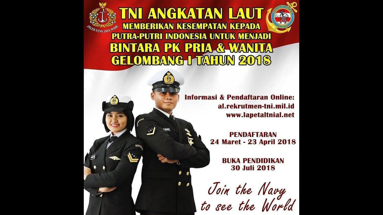 TNI AL Membuka Pendaftaran Bintara PK Th 2018 - YouTube