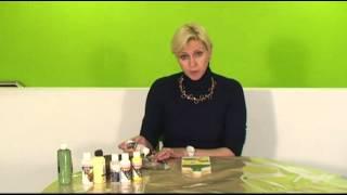 Κρακελέ δύο συστατικών και Ντεκουπάζ με χαρτοπετσέτα | KonstantinArt