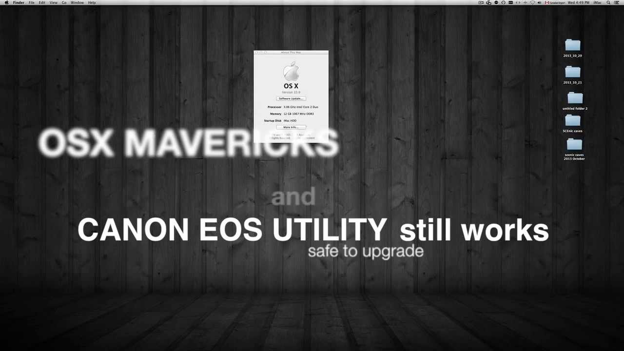 eos utility update mac mavericks