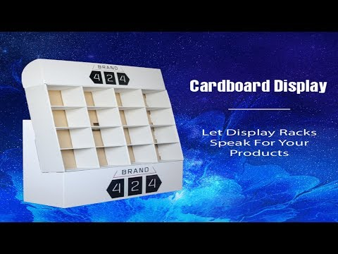 Simple & Modern Style Pocket Cardboard Display Stand