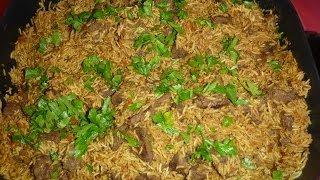 Beef Rice Pilaf Recipe (plov-Плов)