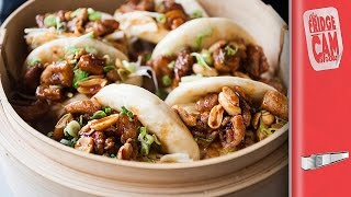 Steamed Bao Buns Recipe With Fried Chicken! | FridgeCam