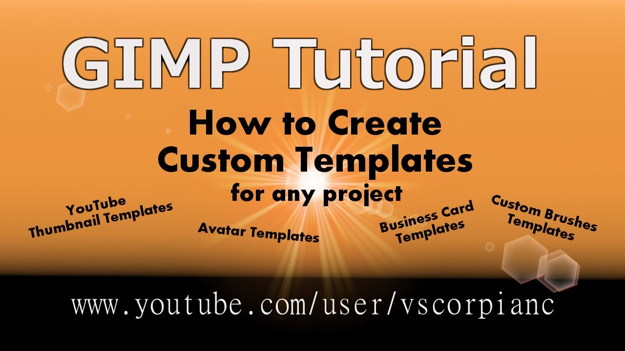 Gimp tutorial beginners make custom templates by vscorpianc youtube wajeb Image collections