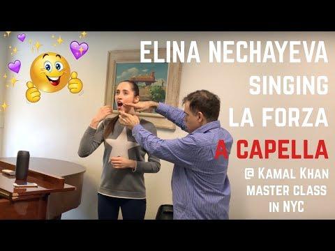 Elina Nechayeva singing La Forza a capella in Kamal Khan's master class