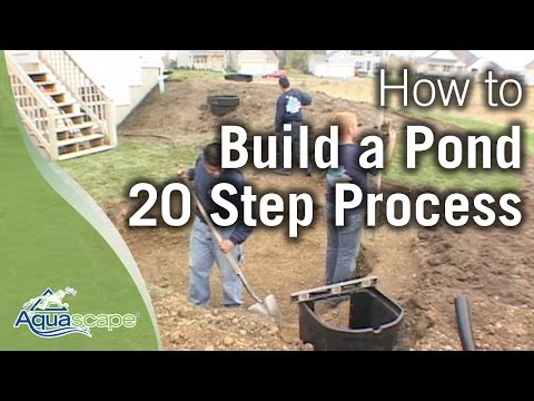 The water garden lifestyle doovi for Building a koi pond step by step
