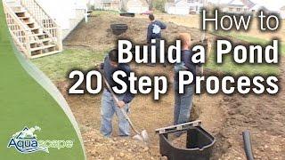 كيفية بناء بركة - أكواسكابي 20 خطوة عملية استعراض