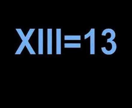 Roman Numerals 13