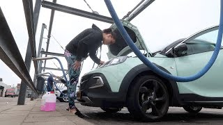mijn auto volledig wassen   vloggloss 1051