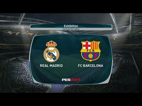 PES 2017 REAL MADRID F.C. VS. FC BARCELONA EL CLASICO Match Highlights