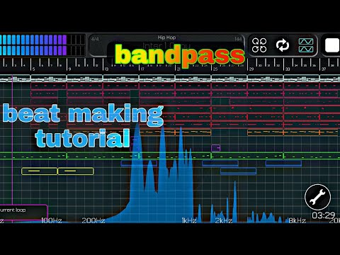 Beat making tutorial || bandpass || hip hop type beat