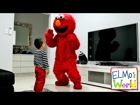 Watching Elmo's World on TV Suddenly Elmo Appears To Surprise Ckn Toys