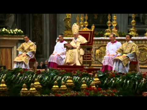 Pope Benedict's homily on the Feast of the Chair of St. Peter