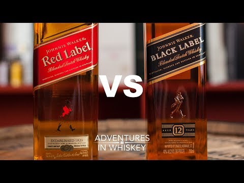 : Johnnie Walker Red VS Black