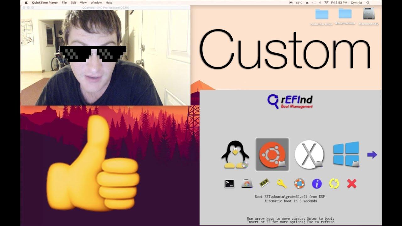 Custom rEFInd Bootloader Menu & Icons Tutorial 2019