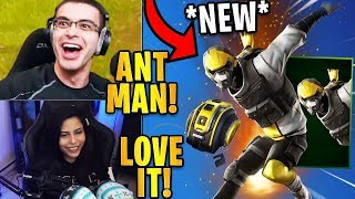 "Streamers React to the *NEW* ANT MAN Skin! ""Hard Charger"" 