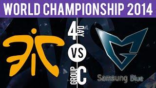 FNC vs SSB - S4WC, Group C | Season 4 World Championships | Fnatic vs Samsung Blue