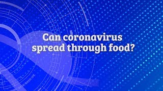 Tidelands Health Coronavirus Information Center - Can coronavirus spread through food?
