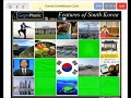 Features of South Korea, game for travel and school