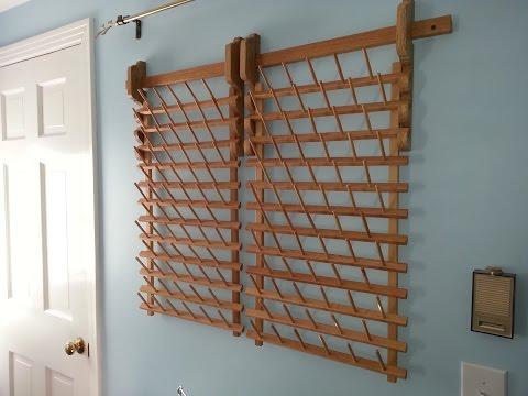 Building a Custom Wall Mount for a Thread Rack