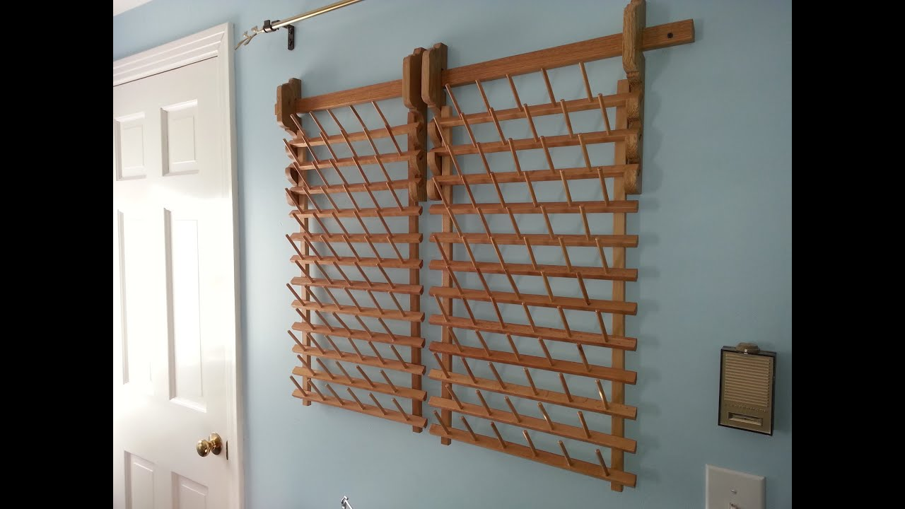 Building a Custom Wall Mount for a Thread Rack - YouTube