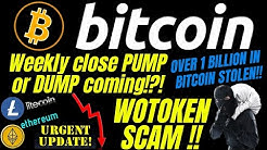 WOTOKEN SCAM COULD CAUSE BITCOIN LITECOIN and ETHEREUM DUMP?? crypto trading, news, ta,  analysis