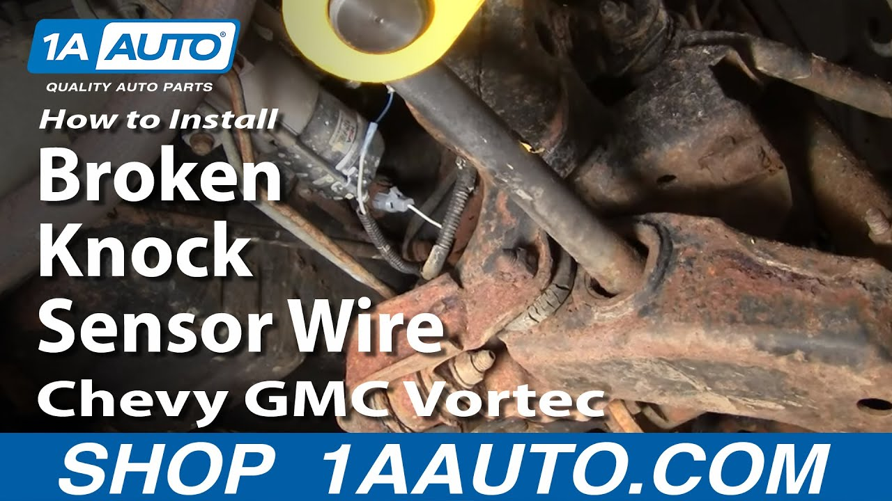 How to install replace broken knock sensor wire chevy gmc vortec on 98 silverado o2 sensor wiring diagram 2002 Chevy Silverado Wiring Diagram 2004 Silverado Radio Wiring Diagram