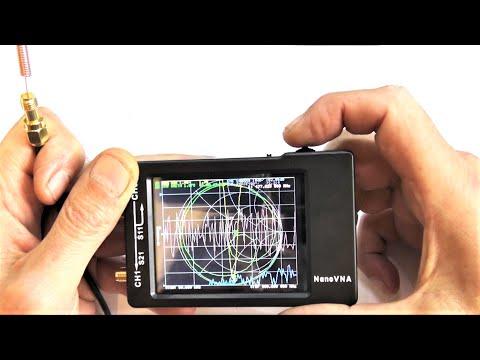 NanoVNA H 50 кГц ~ 1,5 ГГц VNA Векторный анализатор цепей, поиск частоты антенны КСВ