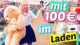 100€ im 1€ Laden ausgeben 😳 | ViktoriaSarina