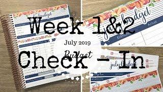 Baixar Week 1 & 2 Check In | July 2019 Budget | Erin Condren Deluxe Monthly |