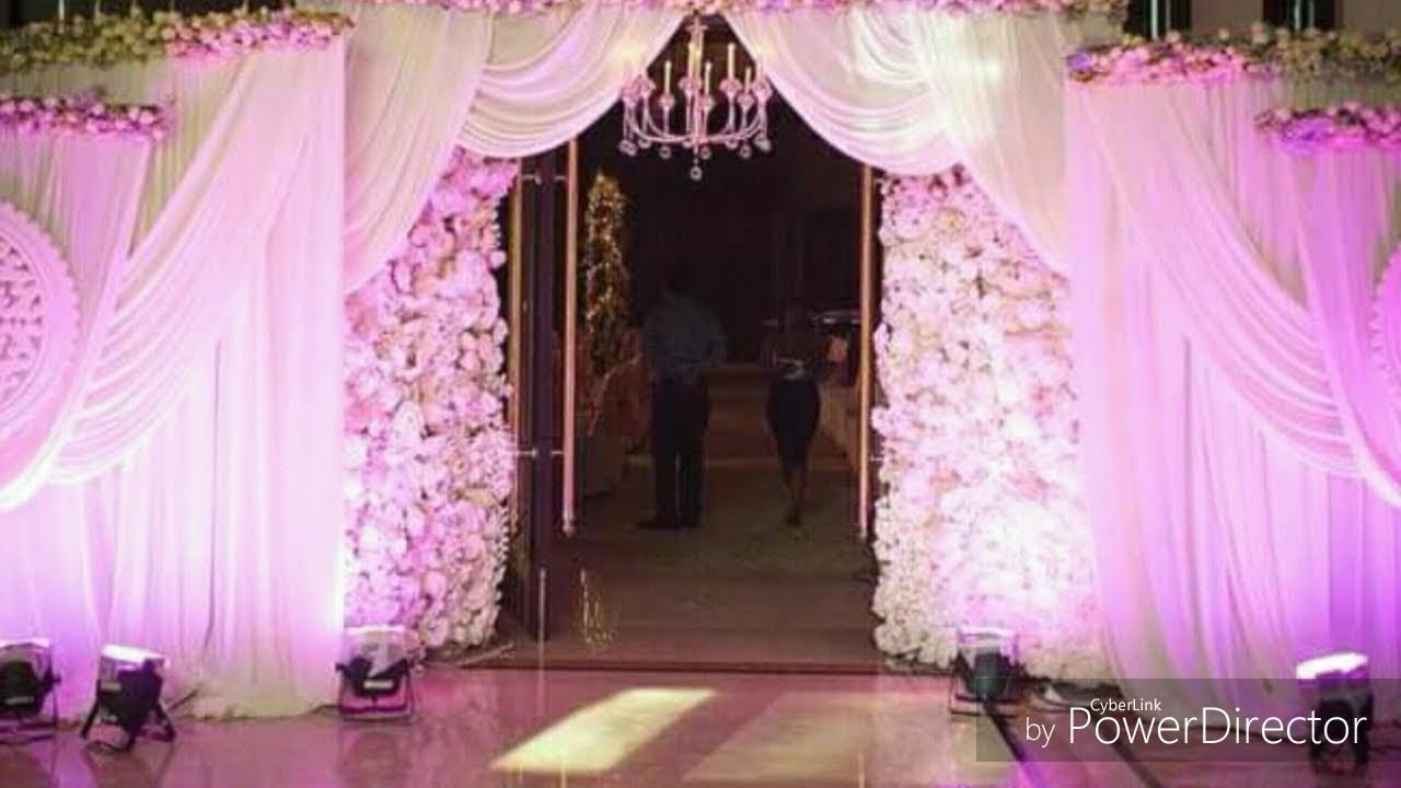 Marriage wedding flowers stages decoration video youtube marriage wedding flowers stages decoration video junglespirit Image collections