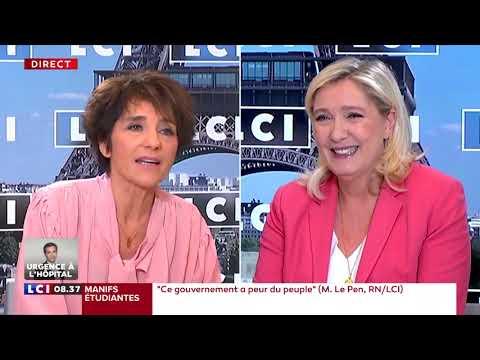 Marine Le Pen dans l'interview politique d'Elizabeth Martichoux