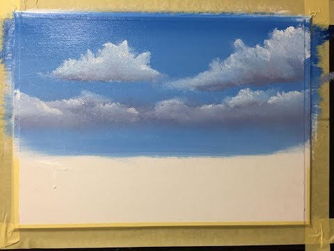 #155. How to paint a scenery for beginners