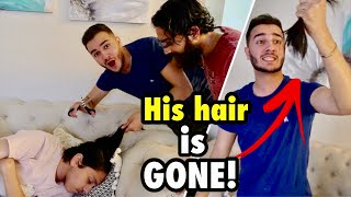 Cutting HIS HAIR PRANK gone too far **not clickbait**