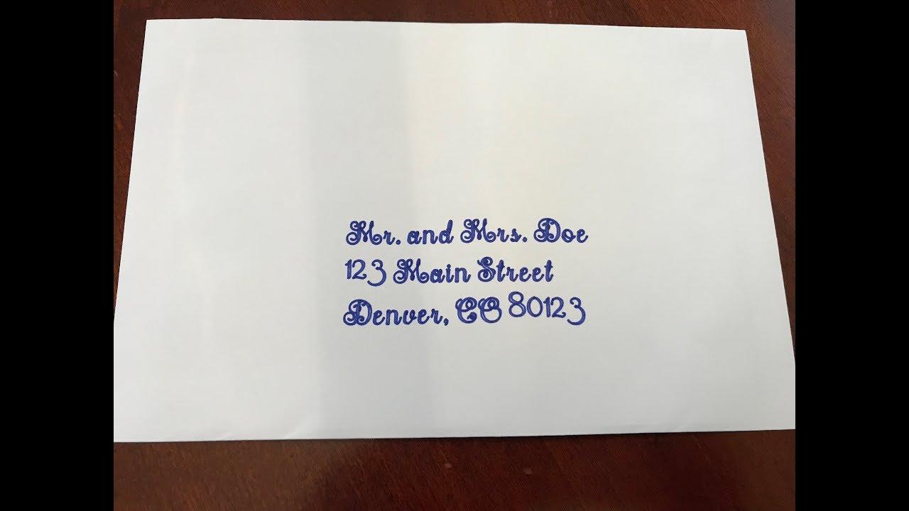 Cricut Design Space- How to Write on Wedding Envelopes