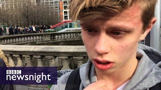 'It was very tough to see': Eyewitnesses describe Westminster attack - BBC Newsnight