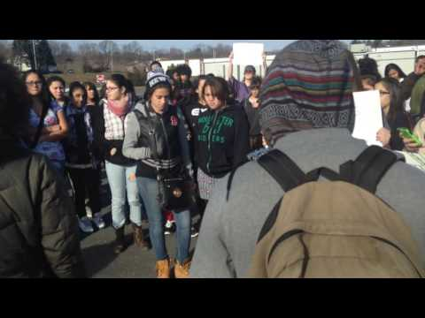 BLM walk out with students @ Paulo Freire Social Justice Charter School