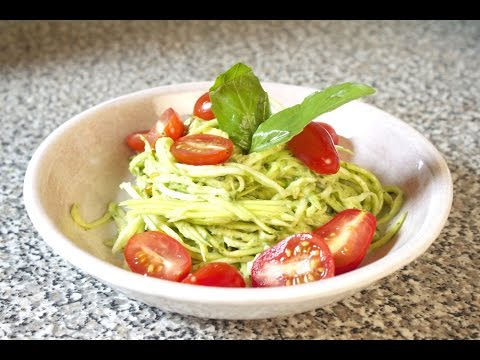 RAW ZUCCHINI NOODLES WITH PESTO | Fuel Fit TV