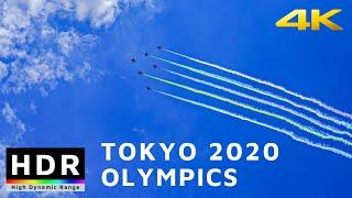 【4K HDR】Jet Show at Tokyo Olympics 2020 Opening Ceremonies - Blue Impulse