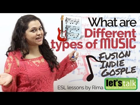 Improve English Vocabulary - What are different 'types of MUSIC' – English  Lesson to speak fluently