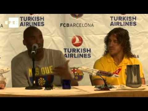 Kobe Bryant joins Barcelona's  Guardiola in charity match
