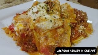 HOW TO MAKE LASAGNA IN ONE POT