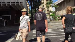 Walking Kuhio Ave 1/24/2018 [HD] Waikiki