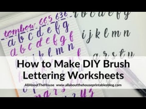 How to make DIY hand lettering practice worksheets (tutorial)