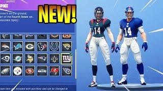 *NEW* NFL Skins Item Shop Update Fortnite Battle Royale