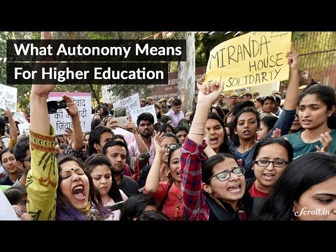 What autonomy means for higher education in India