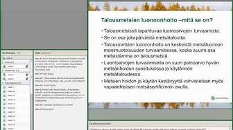 Monimetsä-hankkeen talousmetsien luonnonhoidon webinaari 2.3.2020