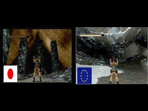Sega Saturn Tomb Raider Japan Vs Europe Version Some Gameplay