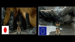 sega saturn tomb raider japan vs europe version some gameplay