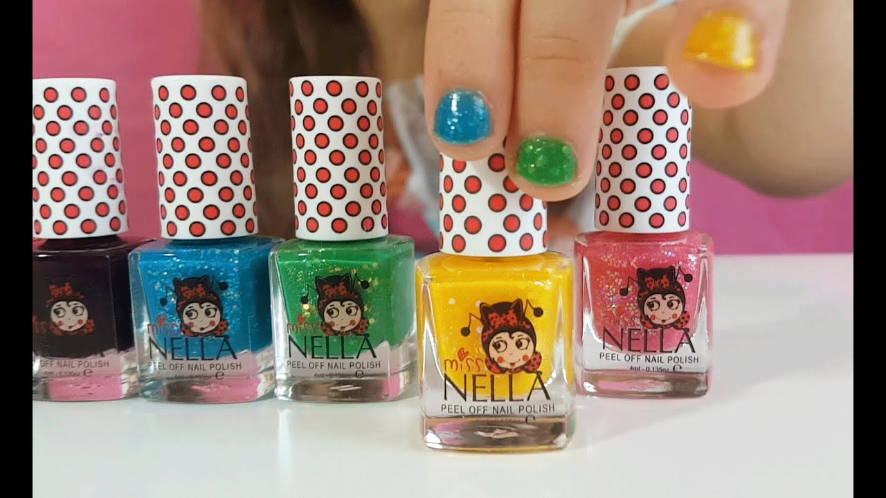 Nail polish for kids from MISS NELLA. NATURAL! Glittery and non ...